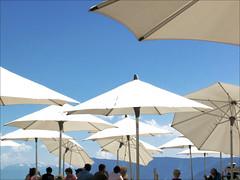 day3006 mon09jun2014 (a.pic.a.day) Tags: white holiday hot umbrella warm umbrellas wit zon paraplu zonnestraal heet zonnescherm