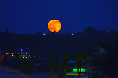 Red Moon Rising (RobW_) Tags: red moon june rising greece friday wal zakynthos 2014 freddiesbar tsilivi diaryphoto mdpd2014 jun2014 mdpd201406 13jun2014