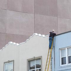 Bricked up (BruceK) Tags: toronto bricks danforth ladder