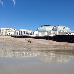 Worthing Pavilion (Jonathan Rolande) Tags: blue sea sky west beach reflections sussex pier worthing sand image lounge free sunny pavilion denton freeimage uploaded:by=flickrmobile flickriosapp:filter=nofilter