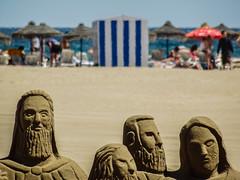 Beach Sand Sculptures - Valencia (Sony HX60V) (markdbaynham) Tags: city travel urban valencia spain zoom sony cybershot espana spanish espanol metropolis es hx dsc cyber compact cuidad 60v sonyphotographing travelzoom hx60 hx60v digitaldepotcouk