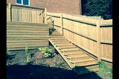 "A before and after photos of a decking job in Loughborough, making use of a un useful area • <a style=""font-size:0.8em;"" href=""http://www.flickr.com/photos/72072497@N07/14267898480/"" target=""_blank"">View on Flickr</a>"