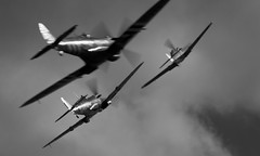 Spitfires chasing the enemy (Nick Collins Photography, Thanks for 2.1 million v) Tags: ww2 duxford spitfire hispano raf luftwaffe supermarine buchon