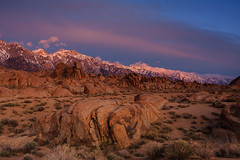 Alabama Hills Sunrise (Jeff Sullivan (www.JeffSullivanPhotography.com)) Tags: sunrise alabama hills lone pine eastern sierra sierranevada usa landscape nature canon 40d road trip photo copyright 2011 march day weather clear blmproud seeblm photomatixpro