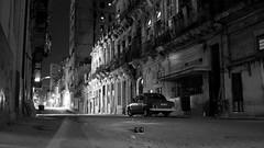 Havana at Night - Cuba **Explored** (IV2K) Tags: street blackandwhite bw monochrome night vintage dark quiet sony havana cuba centro explore caribbean desaturated habana deserted kuba vedado explored rx1 centrohavana