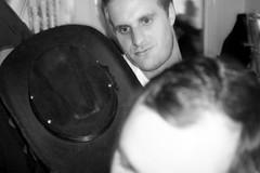Farewell no.75 (Gary Kinsman) Tags: party bw motion london hat houseparty blackwhite movement candid flash grain motionblur late unposed slowsync canadawater highiso unseen surreyquays se16 2014 slowsyncflash no75 fujix100 fujifilmfinepixx100