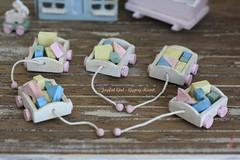 (*Joyful Girl ♥ Gypsy Heart *) Tags: vintage toy toys wooden painted nursery blocks block chic etsy 112 distressed dollhouse wagons shabby joyfulgirlgypsyheart