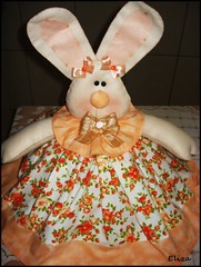 cobre bolo coelha laranja (Eliza de Castro) Tags: cobrebolo decoraodecozinha kitdecozinha cobrebolovaquinha cobrebolocoelha