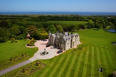 Aerial Picture of Mennie House (bestviewedfromabove.co.uk) Tags: pictures from above city house golf hotel estate aerial best course international aberdeen trump viewed fpv aerialpicture dji mennie bestviewedfromabove