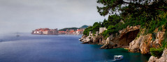 Dubrovnik Panorama (Jocelyn777) Tags: travel boats landscapes seascapes croatia dubrovnik textured cityviews adriaticsea panoramicviews