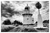 Fingal Head Lighthouse (converted1) Tags: blackandwhite lighthouse clouds fingalheads