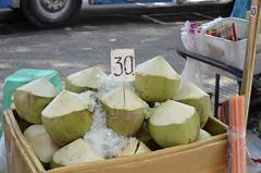 30 Baht Coconuts (shazell212) Tags: city water thailand nikon asia southeastasia bangkok citylife drinks photowalk sweets coconuts thaifood rattanakosin bangkokcity d7000 nikond7000