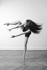 Helen (Fufurasu) Tags: blackandwhite bw ballet woman sexy feet girl beautiful dance ballerina pretty legs contemporary longhair dancer grace barefoot elegant fitness toned graceful fit slender elegance