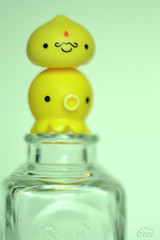 Lemon Drop (Ceci ♥ Cuteness) Tags: summer cute glass japan ink vintage toy bottle lemon antique ceci arcade vinyl machine well squid kawaii figure octopus onsen cuteness vending kun manju mustahe takochu
