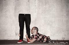 Mi media mitad (Javier F. G.) Tags: portrait españa spain retrato half tenerife vans ropa partido mitad javierfuentes jotaefegecom