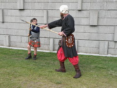 Weapons Training (cessna152towser) Tags: scotland costume kilt reenactor tartan bannockburn