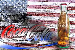 02468024-61-Drink Ice Cold Coke-6 (Jim Beatniks are out to make it rich) Tags: wood blue red white america photoshop advertising bottle cola flag dream 4th july americanflag coke patriotic american americana canon5d cocacola cokebottles 2014 canon24105lens ilobsterit