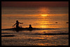 Splashing in the sea. (Yvette-) Tags: sunset cleveleys nikond5100