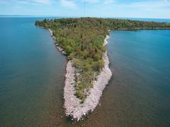 Rabbit Island, Keweenaw Bay, Lake Superior (Invinci_bull) Tags: michigan upperpeninsula lakesuperior kiteaerialphotography rabbitisland keweenaw keweenawbay keweenawpeninsula michigansupperpeninsula giantrokkaku