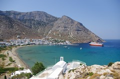 ! ! ... our great sweet mother (Andrei Dragomir) Tags: blue sea summer port island holidays gulf turquoise aegean greece sifnos cyclades ferryboat