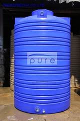 ถังเก็บน้ำบนดิน PE สีฟ้า