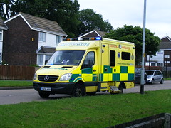 AMBULANCE ON THE GULAG BRANSHOLME IN KINGSTON upon HULL THE CITY OF CULTURE IN 2017 (zxbill55) Tags: culture ambulance kingston hull gulag 2017 bransholme
