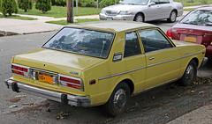 1978 Datsun 510 two-door sedan (vetaturfumare - thanks for 3 MILLION views!!!) Tags: ny car yellow square nissan box violet 510 rare conventional datsun a10 bellerose auster