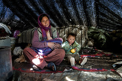 A Changpa Mother in her Yak Wool Tent, Ladakh (Anoop Negi) Tags: china family yak india home wool photography photo milk child tent tibet indie nomad anoop indien nomads ladakh inde negi suckling   ndia   ezee123  intia changpa  n        ndia n indi