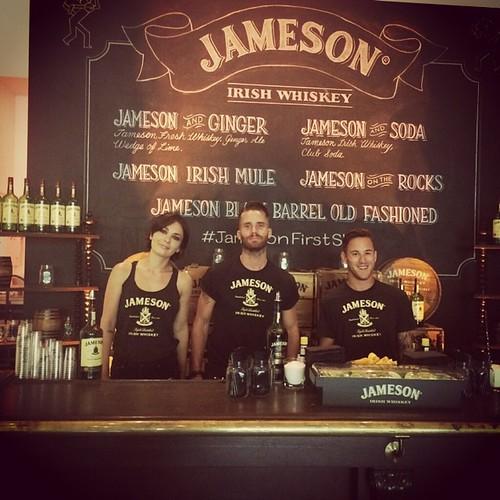 Jamison Whiskey event last night! #jamesonfirstshot #jameson #bartenders #tattoos #whiskey #losangeles #events #eventlife #cocktails #cocktailservers #kevinspacey #youtube #triggerstreet #200proofla #200proof