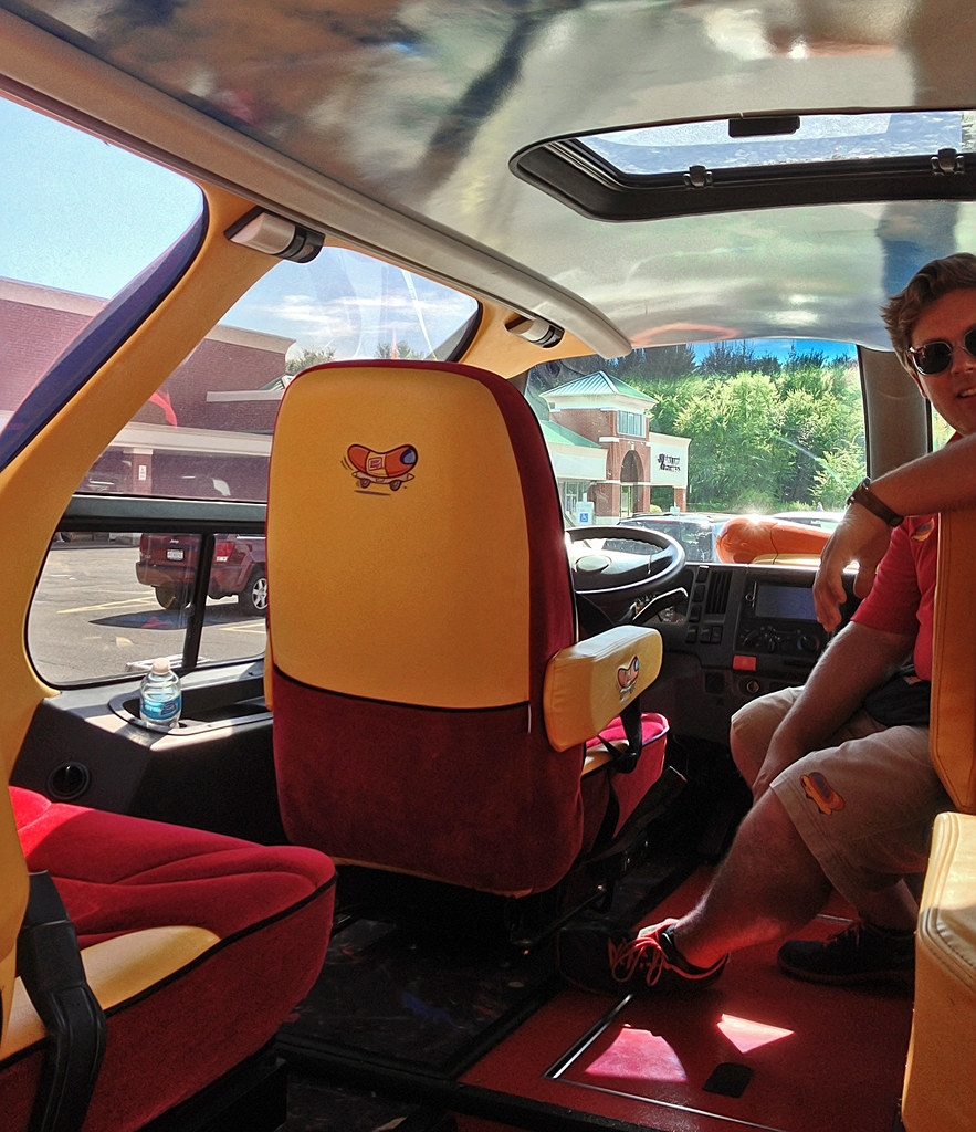 Its Raining Hot Dogs From Oscar Mayer Wienerdrone 1705150 further The Oscar Mayer Wienermobile With My Family Inside furthermore Inside The Oscar Mayer Wienermobile as well Smiles drive to santa clara as well Corvette Funfest 2011 Inside The Ls Powered Hot Dog. on oscar mayer wienermobile seats