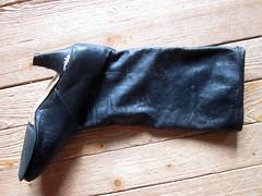 Road kill (camilla100) Tags: trash vintage boot over run smashed