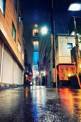 Tokyo Skytree & Night (Luís Henrique Boucault) Tags: longexposure travel sunset vacation reflection tower japan architecture night clouds lights tokyo asia cityscape rainy fujifilm nippon bluehour asakusa edo sumidaku skytree tokyoskytree luíshenriqueboucault