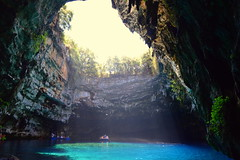 melissani kefalonia (konstantin45) Tags: sea lake seascape landscape lago island greek boat fantastic view hellas greece cave grotta sami melissani kefallonia ionion cefalonia karavomylos