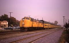 C&NW Commuter Train 629 at Palatine IL (rca55319) Tags: chicagonorthwestern commutertrain emde7 emde8 bilevel palatineillinois