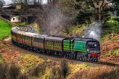 34081 descending Eardington Bank (mervyn_w) Tags: severnvalleyrailway bulliedpacific steamrailway southernrailway shropshire englishmidlands
