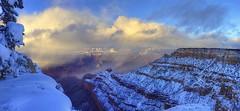 Sundown hits Grand Canyon (Chief Bwana) Tags: az arizona grandcanyon grandcanyonnationalpark nationalparks sunset snow pipecreekoverlook psa104 chiefbwana explored 500views 1000views 2000views 3000views 4000views 5000views 6000views 7000views 8000views 9000views 10000views