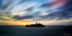Windswept Sunset (Dave Massey Photography) Tags: godrevylighthouse cornwall sunset longexposure