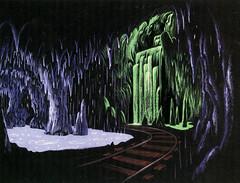 Rainbow Caverns concept art by Claude Coats (Tom Simpson) Tags: disney disneyland vintage vintagedisney frontierland 1960s rainbowcaverns conceptart claudecoats waterfall