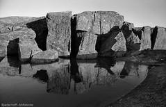 Islagt vatn på Sandmofjellet (Bjarte Hoff) Tags: is ise blackandwhite svartkvitt analog analogue refleksjon reflection