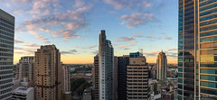 Sunrise in Sydney (NettyA) Tags: 2017 australia centralrailwaystation nsw newsouthwales sydney buildings haymarket au appleiphone6