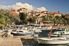 A6470DUBb (preacher43) Tags: cavtat croatia luka bay boats house architecture water clouds outdoor