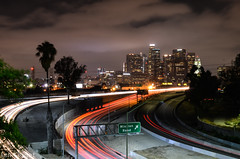 All Roads Lead to Los Angeles (Ian Ligget) Tags: los angeles losangeles la california cali ca skyline city urban metro buildings long exposure longexposure light trails lighttrails freeway