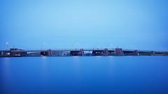 Tien minuten (zsnajorrah) Tags: urban bridge water river sky clouds overcast bluehour minimal breakthroughphotography x3nd10 neutraldensityfilter ndfilter nd 7dmarkii ef1635mmf4l netherlands haarlem schoterbrug spaarne explore