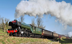 Flying Scotsman And Shadows. (neilh156) Tags: steam steamloco steamengine steamrailway railway 60103 flyingscotsman haworthtopfield haworth keighleyworthvalleyrailway kwvr worthvalleyrailway a3pacific gresleya3 lnerpacific pacificloco gresleypacific lner gresley