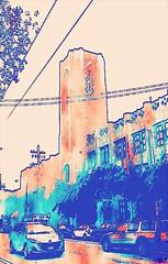 Roosevelt Middle School, San Francisco (sftrajan) Tags: rooseveltmiddleschool rooseveltjuniorhighschool tower arguelloboulevard gearyboulevard architecture edited timothypflueger sanfrancisco california édité editado