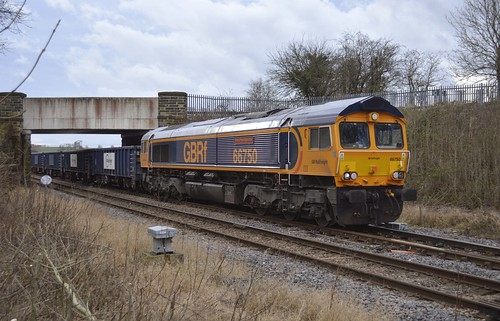GBRf 66750 at Dinnington Jn [2 of 2]