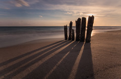 in the shadow (Marc McDermott) Tags: beach water sky lake shadow play sand ontario long exposure clouds nature old beautiful sunset texture low point view canon horizon neutral density blue