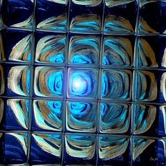 Espoir II - Hope II (Emmanuelle Baudry - Em'Art) Tags: art artwork blue moon lune ciel sky carré squared lumière light digitalart artnumérique artabstrait abstrait abstract fantasy emart emmanuellebaudry