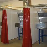 Lascabine\'s inclusief werktafel, afzuiging en lasgordijnen