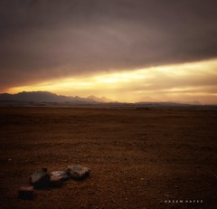 The Mighty Desert  .. This is Egypt (Hazem Hafez) Tags: hurghada egypt sunset mountains desert sky clouds